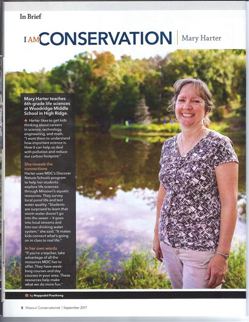 WMS Science teacher featured in MC magazine