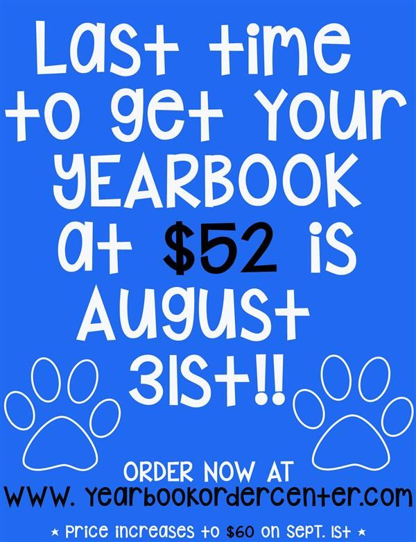 Yearbook Price Increase