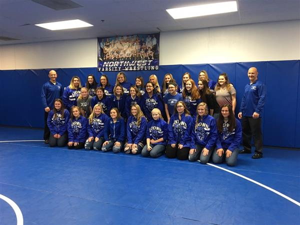 NHS Lady Lions Wrestling Team