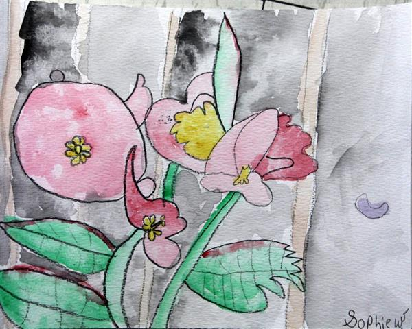 Student Artwork Water Color flowers